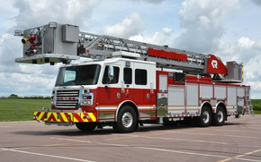 Picture fire & rescue, fire truck, rosenbauer