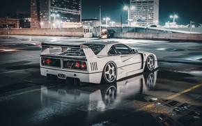 Picture Auto, White, Machine, City, Ferrari, Render, Supercar, Night, Retro, Supercar, Sports car, Sportcar, Science Fiction, …