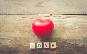 Picture love, heart, red, love, heart, wood, romantic