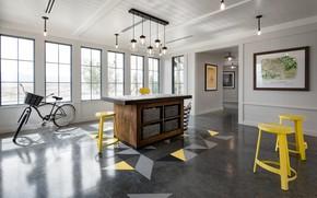 Picture bike, room, furniture, interior