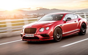 Picture speed, Bentley, Continental, 2017, Supersports