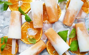 Picture ice, oranges, ice cream, orange, sweets, ice cream