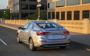 Picture street, Honda, sedan, Hybrid, Insight, hybrid, Touring, four-door, 2019