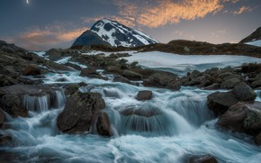 Picture river, mountain, Norway, cascade, Norway, Jotunheimen National Park, Jotunheimen Mountains, The national Park Jotunheimen, The …