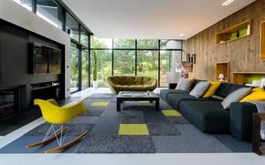 Picture design, style, interior, living room, Villa A & L, by Atelier d'Architectes Associés