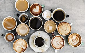 Picture different, coffee, cups, hot drink