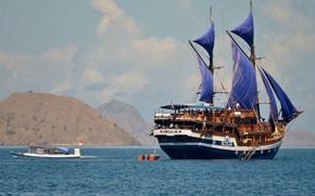 Picture the ocean, ship, sailboat, Indonesia, cruise ship, Surabaja, Komodo, Sea Safari-VII, остров Комодо