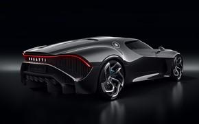 Picture machine, Bugatti, lantern, stylish, exhaust, hypercar, The Black Car
