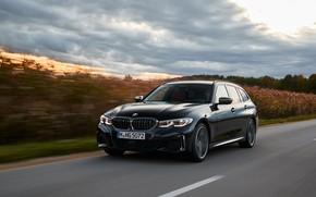 Picture black, vegetation, BMW, 3-series, universal, 3P, 2020, 2019, G21, M340i xDrive Touring