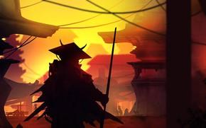 Picture Figure, Landscape, Art, Landscapes, Digital Art, Samurai, TacoSauceNinja, by TacoSauceNinja, Lost Samurai