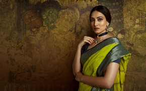 Picture girl, fashion, model, beauty, pose, indian, makeup, saree, sari, traditional, Jewelery