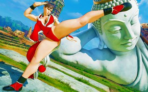 Picture chest, rendering, feet, blow, statue, fighter, street fighter, chun-li, capcom
