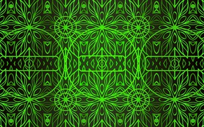 Picture green, background, patterns, backlight, figure
