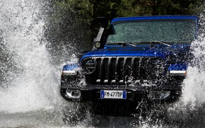 Picture blue, SUV, front, 4x4, Jeep, 2019, Wrangler Unlimited 1941 Sahara