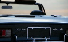 Picture black, Maserati, 1969, Roadster, spider, feed, Ghibli Spider