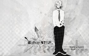 Picture tie, shirt, guy, pants, D. Gray-man
