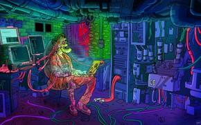 Picture Minimalism, Robot, Computer, Style, Background, Robot, Style, Fiction, Cyborg, Illustration, Minimalism, Cyborg, Characters, Sci-Fi, Cyberpunk, …