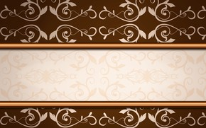 Picture flowers, texture, ornament, brown background