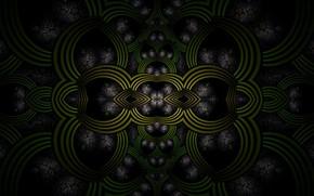 Picture pattern, color, fractal, dark