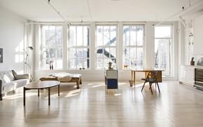 Picture interior, living room, Flatiron, living room, District New York, Corcoran