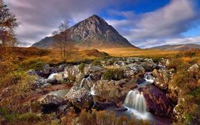 Picture stream, stones, mountain, stream