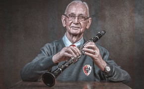 Picture music, people, clarinet