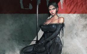 Picture Girl, Style, Girl, Sword, Art, Art, Style, Figure, Sword, Figure, by KyuYong Eom, KyuYong Eom, …