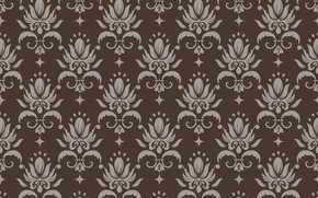 Picture retro, background, brown, ornament, style, vintage, beige, ornament, seamless, victorian