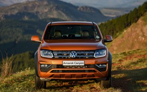 Picture Volkswagen, front view, pickup, Amarok, Canyon, 2019
