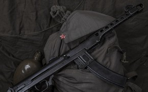 Picture Cap, PPS-43 Hero of the Soviet Union Leonid Ardasheva, Jar, Duffel bag