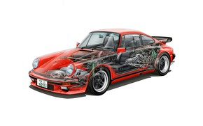 Picture 911, Porsche, turbo, cutaway, 3.3 coupe