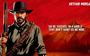 Picture art, bandit, Rockstar, Red Dead Redemption 2, Arthur Morgan