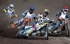 Picture motorcycles, race, Speddway
