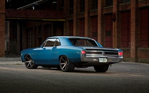Picture Chevrolet, Blue, Coupe, Chevelle, Muscle car, Big Block