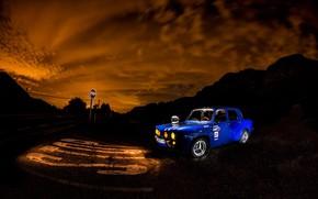 Picture road, machine, night