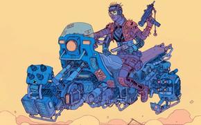 Picture Girl, Girl, Weapons, Fantasy, Machine, Gun, Art, Art, Robot, Robots, Fiction, Bike, Cyborg, Revolver, Cyberpunk, …