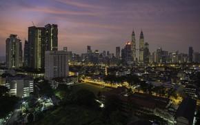 Picture the city, darkness, Malaysia, Kuala Lumpur