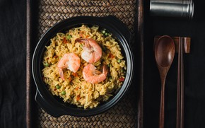 Picture plate, figure, shrimp, seafood, garnish