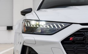 Picture Audi, White, Face, Before, RS6, Full LED Lights