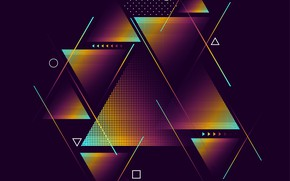 Picture abstraction, background, Design, Wallpaper, Triangle, Purple, Texture, Geometric
