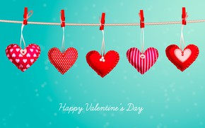 Picture background, hearts, Valentine's day