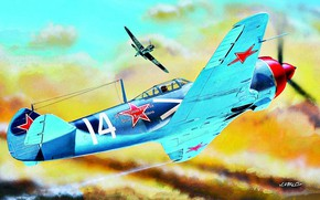 Picture Bf.109, La 5FN, The second World war, radial engine, 52 air victories, guard captain K. …
