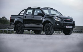 Picture black, pickup, Isuzu, D-Max, 2019, правым боком, X-Rider Black