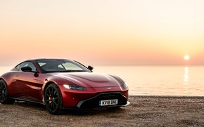 Picture sunset, Aston Martin, Vantage, 2018