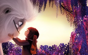 Picture flowers, girl, monster, Everest, Abominable