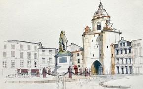Picture the city, figure, architecture