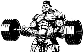 Picture figure, art, muscle, muscle, rod, muscles, press, athlete, biceps, Bodybuilding, bodybuilder, abs, weight, bodybuilder