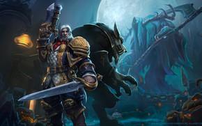 Picture Blizzard, Art, Warrior, Worgen, WarCraft, Mr--Jack, by Mr--Jack, Greymane, World of WarCraft, King Genn Greymane, …