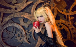 Picture look, girl, face, style, Apple, makeup, dress, black, blonde, costume, gear, outfit, image, Asian, long …