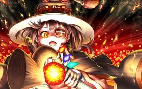 Picture girl, hat, Kono Subarashii Sek'ai Is Shukufuku Wo!, Goddess Bless This Beautiful World